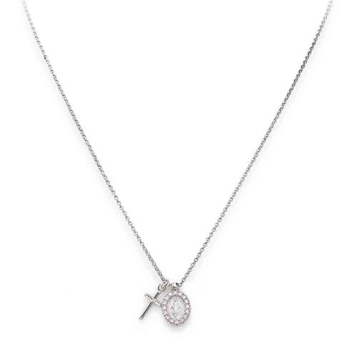 Sterling silver Necklace Cross and Miracolosa