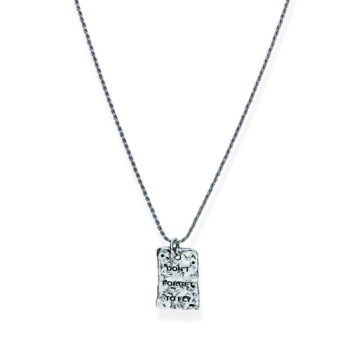 Sterling Silver Necklace Rhodium