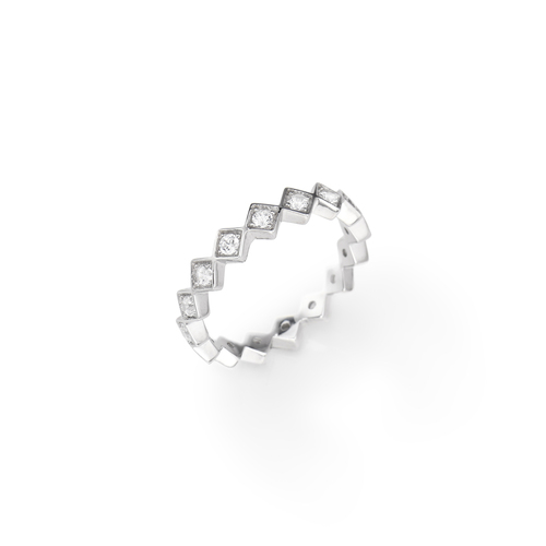 Sterling Silver Ring and white zirconia