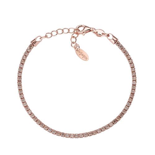 Tennis Bracelet Rosè Champagne Zircons