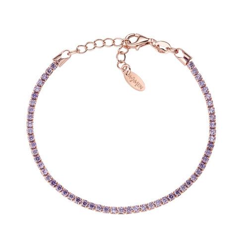 Tennis Bracelet Rosè Lilac Zircons