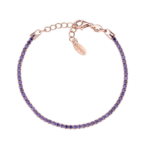 Tennis Bracelet Rosè Purple Zircons