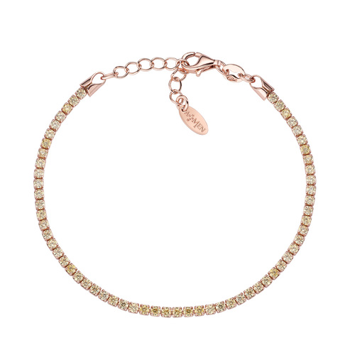 Tennis Bracelet Rosè Yellow Zircons