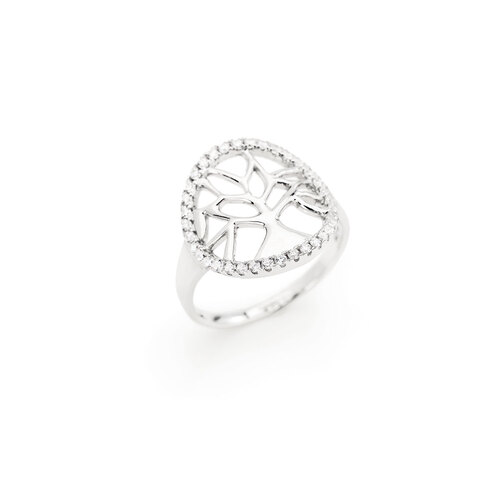 Tree of Life Ring Rounded Zircons