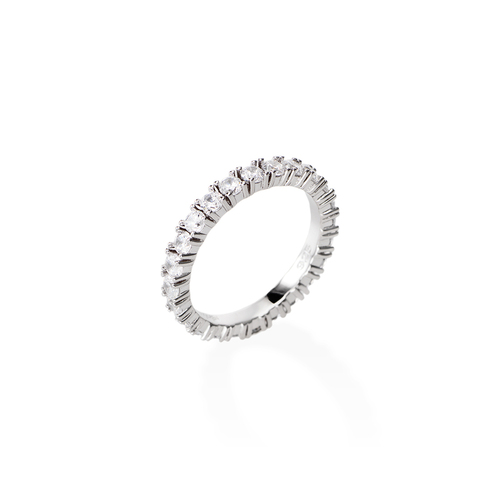 White Zirconia Eternity Ring