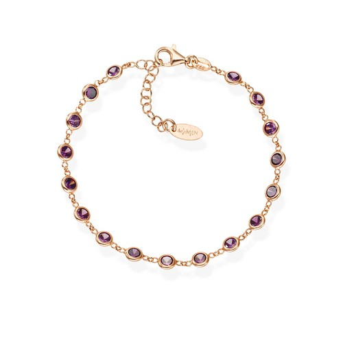 Wine Color Drops Zirconia Bracelet