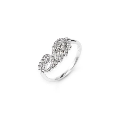 Wings Sterling Silver Rings Cubic Zirconia