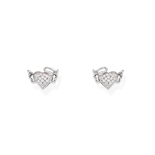 Zirconate Heart and Little Angel Earrings
