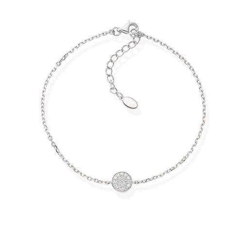 Zirconia Medal Bracelet