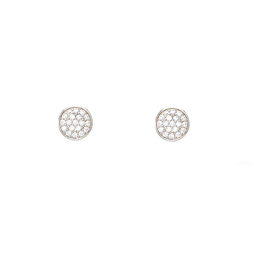 Zirconia Medal Earrings