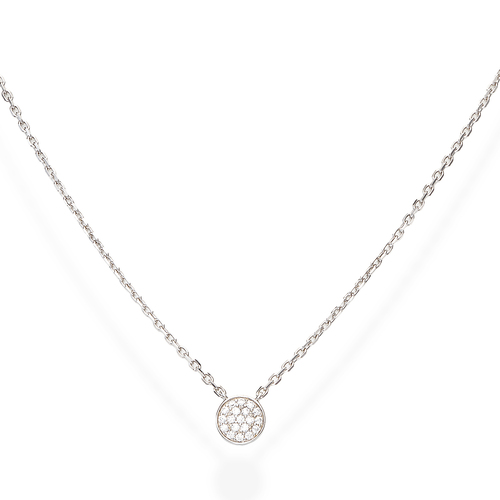 Zirconia Medal Necklace